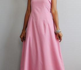 Pink Maxi Dress - One Shoulder Bridesmaid Dress : True Elegance Collection II